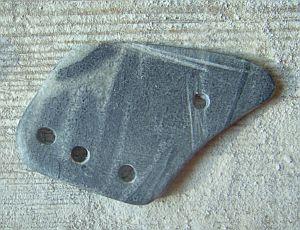 Eine kräftige Maserung, die durch die klare Form noch unterstrichen wird